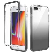 Schokbestendige hoge transparantie tweekleurige geleidelijke verandering PC + TPU Candy Kleuren beschermhoes voor iPhone SE 2020 / 8 / 7 (Zwart)