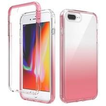 Schokbestendige hoge transparantie tweekleurige geleidelijke verandering PC + TPU Candy Kleuren beschermhoes voor iPhone SE 2020 / 8 / 7 (Rood)