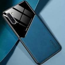 Voor Samsung Galaxy Note10 All-inclusive Leder + Organic Glass Beschermhoes met metalen ijzeren plaat (Royal Blue)