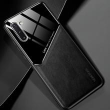 Voor Samsung Galaxy Note10 All-inclusive Leder + Organic Glass Beschermhoes met metalen ijzeren vel(zwart)