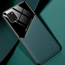 Voor Samsung Galaxy Note 10 Lite All-inclusive Leder + Organische Glazen Beschermhoes met metalen ijzeren plaat (groen)