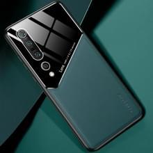 Voor Xiaomi Mi 10 Pro All-inclusive Leder + Organic Glass Protective Case met metalen ijzeren vel (groen)