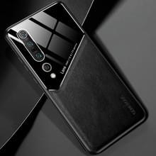 Voor Xiaomi Mi 10 Pro All-inclusive Leder + Organic Glass Protective Case met Metalen Ijzeren Vel (Zwart)