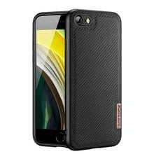 DUX DUCIS Fino-serie PU + TPU-beschermhoes voor iPhone SE 2020 / 8 / 7(Zwart)