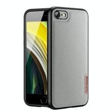 DUX DUCIS Fino-serie PU + TPU-beschermhoes voor iPhone SE 2020 / 8 / 7(Blauw)