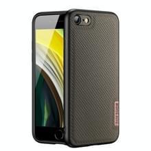 DUX DUCIS Fino-serie PU + TPU-beschermhoes voor iPhone SE 2020 / 8 / 7(Groen)