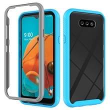Voor LG K31 Starry Sky Solid Color Series Schokbestendige PC + TPU beschermhoes (lichtblauw)
