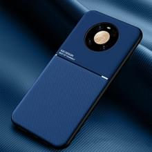 Voor Huawei Mate 40 Pro Classic Tilt Strip Grain Magnetic Shockproof PC + TPU Case(Blauw)