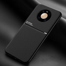 Voor Huawei Mate 40 Classic Tilt Strip Grain Magnetic Shockproof PC + TPU Case(Zwart)