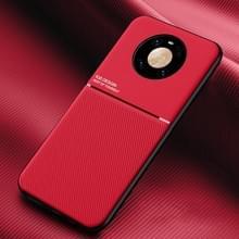 Voor Huawei Mate 40 Classic Tilt Strip Grain Magnetic Shockproof PC + TPU Case(Red)