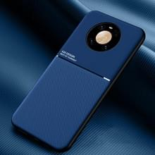 Voor Huawei Mate 40 Classic Tilt Strip Grain Magnetic Shockproof PC + TPU Case(Blauw)