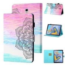 Voor Samsung Galaxy Tab A 10.5 T590/T595 Gekleurde tekenstiksels Horizontale Flip Lederen case met Holder & Card Slot & Sleep / Wake-up Functie(Kleurrijke Mandala)