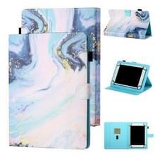 Voor 7 inch Tablet Universal Coloured Drawing Stitching Horizontale Flip Lederen Case met Holder & Card Slot (Quicksand)