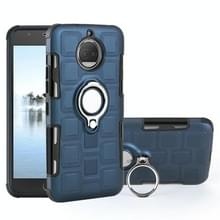 Voor Motorola Moto G5S plus 2 in 1 Cube PC + TPU beschermhoes met 360 graden draaien zilveren ring houder (marineblauw)