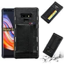 Voor Galaxy Note 9 PU + TPU schokbestendig beschermende lederen draagtas met kaartsleuven (zwart)
