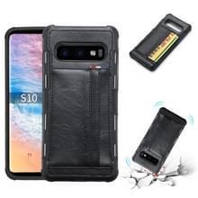 Voor Galaxy S10 PU + TPU schokbestendig beschermende lederen draagtas met kaartsleuven (zwart)