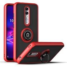 Voor Coolpad Legacy Brisa Q Shadow 1 Generation Series TPU + PC Beschermhoes met 360 graden draairinghouder (rood+zwart)
