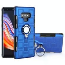 Voor Galaxy Note 9 2 in 1 Cube PC + TPU beschermhoes met 360 graden draaien zilveren ring houder (blauw)