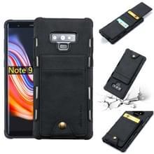 Voor Galaxy Note 9 doek textuur + TPU schokbestendige beschermhoes met verticale Flip kaartsleuven (zwart)