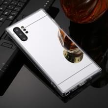 Voor Galaxy Note 10 + TPU + acryl luxe plating spiegel telefoon gevaldekking (zilver)