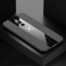 Voor Meizu Note 8 XINLI stiksels doek Textue schokbestendig TPU beschermhoes (grijs)