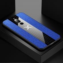 Voor Meizu Note 8 XINLI stiksels doek Textue schokbestendig TPU beschermhoes (blauw)