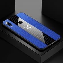 Voor Meizu Note 9 XINLI stiksels doek Textue schokbestendig TPU beschermhoes (blauw)