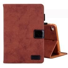 Voor iPad Mini 1/2/3/4 Business stijl horizontale Flip lederen draagtas  met houder & kaartsleuf & fotolijstjes & slaap/Wake-up functie (bruin)