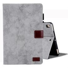Voor iPad mini (2019) Business stijl horizontale Flip lederen draagtas  met houder & kaartsleuf & fotolijstjes & slaap/Wake-up functie (grijs)