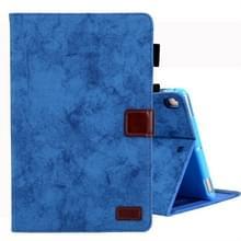 Voor iPad mini (2019) Business stijl horizontale Flip lederen draagtas  met houder & kaartsleuf & fotolijstjes & slaap/Wake-up functie (blauw)