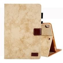 Voor iPad mini (2019) Business stijl horizontale Flip lederen draagtas  met houder & kaartsleuf & fotolijstjes & slaap/Wake-up functie (geel)