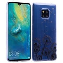 Voor Huawei mate 20 Pro gekleurd tekening patroon zeer transparante TPU beschermhoes (Paardebloem)
