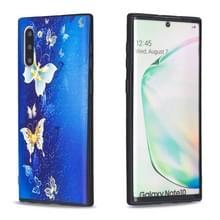 Voor Galaxy Note10 reliëf geschilderd patroon TPU case (gouden vlinder)