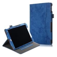 Voor iPad Air 3 koeienhuid textuur horizontale Flip lederen draagtas met houder & slaap/Wake-up functie (blauw)