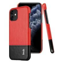 Voor iPhone 11 IMAK Ruiyi serie beknopte slanke PU + PC beschermhoes (zwart + rood)