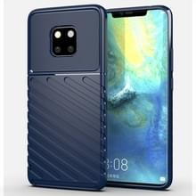 Voor Huawei mate 20 Pro Thunderbolt shock proof TPU softcase (donkerblauw)