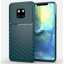 Voor Huawei mate 20 Pro Thunderbolt shock proof TPU softcase (donkergroen)