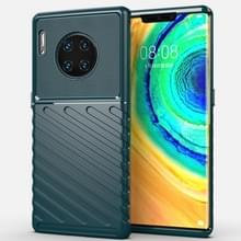 Voor Huawei mate 30 Pro Thunderbolt shock proof TPU softcase (donkergroen)