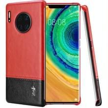 Voor Huawei mate 30 Pro Ruiyi serie beknopte slanke PU + PC beschermhoes met explosiebestendig membraan (rood zwart)