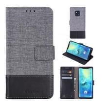 Voor Huawei mate 20 Pro MUXMA MX102 horizontale Flip canvas lederen draagtas met stand & Card slot & portemonnee functie (zwart)