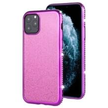 Voor iPhone 11 Pro Diamond ingelegde Flash poeder TPU case (paars)