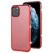 Voor iPhone 11 Pro Diamond ingelegde Flash poeder TPU case (rood)
