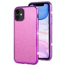 Voor iPhone 11 Diamond ingelegde Flash poeder TPU case (paars)