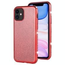 Voor iPhone 11 Diamond ingelegde Flash poeder TPU case (rood)