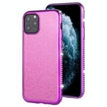 Voor iPhone 11 Pro Max Diamond ingelegde Flash poeder TPU case (paars)