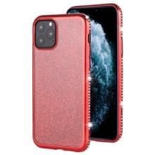 Voor iPhone 11 Pro Max Diamond ingelegde Flash poeder TPU case (rood)