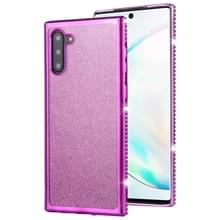 Voor Galaxy Note10/Note10 5G Diamond ingelegde Flash poeder TPU case (paars)