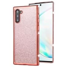 Voor Galaxy Note10/Note10 5G Diamond ingelegde Flash poeder TPU case (Rose goud)