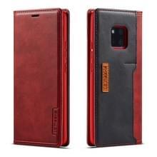 Voor Huawei mate 20 Pro LC. IMEEKE LC-001 serie PU + TPU kleur bijpassende Frosted horizontale Flip lederen draagtas met houder & kaartsleuf (rood)