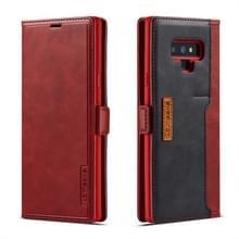 Voor Galaxy Note 9 LC. IMEEKE LC-001 serie PU + TPU kleur bijpassende Frosted horizontale Flip lederen draagtas met houder & kaartsleuf (rood)